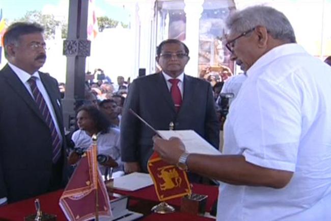 1574058688 Gotabaya Rajapaksa takes oath as President L