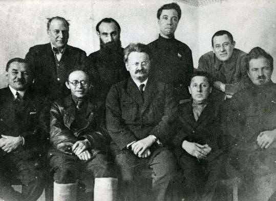Trotsky along with members of the Left Opposition 1927
